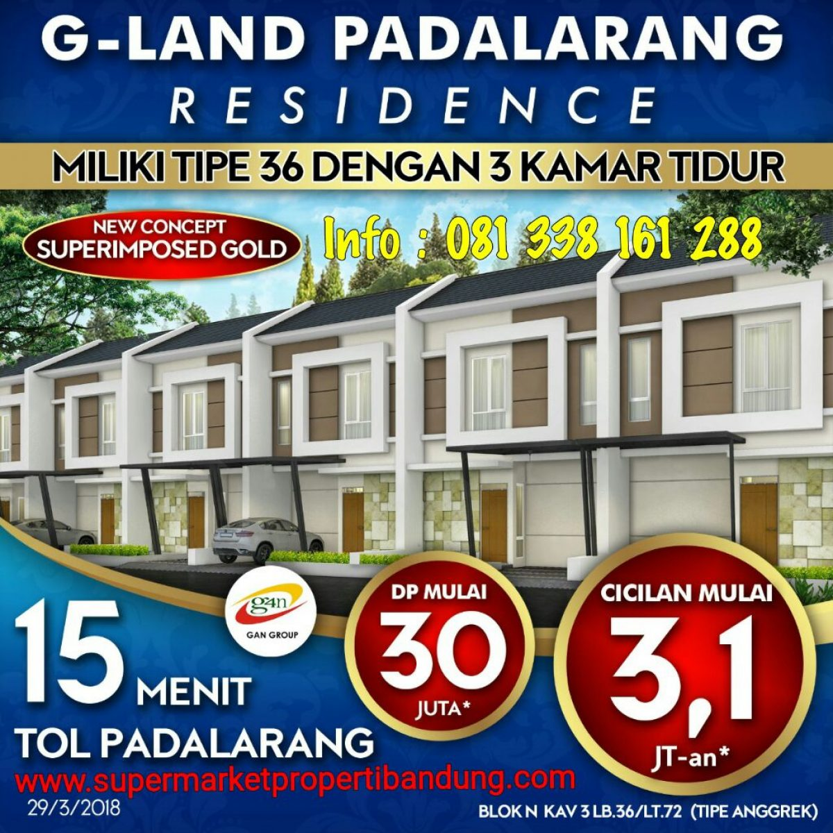 Jual Rumah di Padalarang dekat Kotabaru Parahyangan